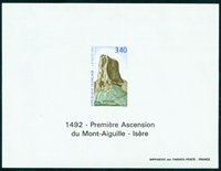 France imperforated bloc 2762a Mont Aiguille