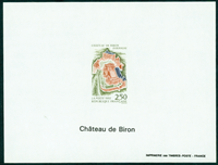 France imperforated bloc 2763a Biron castle