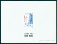 France imperforated bloc 2777a Marcel Paul