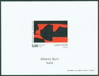 France imperforated miniaturesheet 2780a Alberto Burri