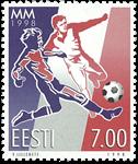 Estland 1998 - VM i fodbold - Postfrisk frimærke