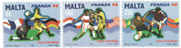 Malta 1998 - Fodbold - Postfrisk sæt 3v