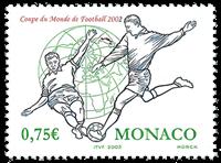 Monaco - VM i fodbold - Postfrisk frimærke