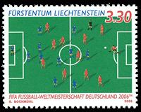 Liechtenstein 2006 - VM i fodbold - Postfrisk frimærke