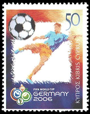 Cypern 2006 - VM i fodbold - Postfrisk frimærke