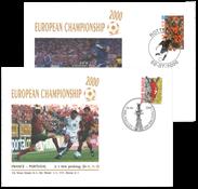 Belgique - Championnat d'Europe de football 2000 -  2 EPJ - 2 enveloppes