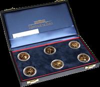 Football - 6 monnaies en or dans un écrin