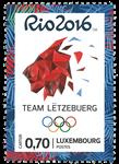 Luxemburg - Olympiske lege Rio 2016 - Postfrisk frimærke