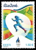 Estland - Olympiske Lege Rio 2016 - Postfrisk frimærke