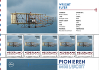 Netherlands - Airplanes Wright Brothers - Mint souvenir sheet