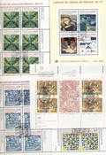 Portugal - 34 diff. cancelled souvenir sheets