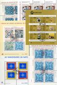 Portugal - 15 verschillende gestempelde souvenir velletjes