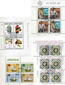 Portugal - 4 diff. cancelled souvenir sheets