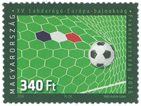 Hungary - European Championship in Football - Mint stamp