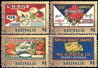 Australia - Fruit Labels - Mint set 4v