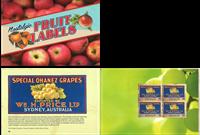 Australia - Fruit Labels - Mint prestige booklet