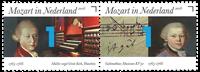 Netherlands - Mozart - Mint set 2v