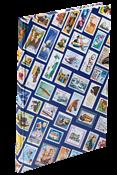 Indstiksbog HOBBY - Blå - frimærkemotiver - str. A4 - 16 hvide sider