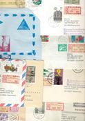 Svizzera/Germania ecc. - lotto di circa 45 buste viaggiate, FDC ecc.