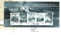 Australian Antarctic - Frank Hurley - First Day Cover with s/s