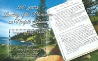 Norfolk Island - Pitcairns folk går i land - Postfrisk miniark