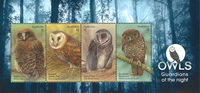 Australia - Owls - Mint souvenir sheet