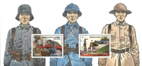 France - Battle of Somme - Mint souvenir sheet in folder