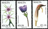 Malta - Flowers part II - Mint set 3v
