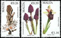 Malta - Flowers part III - Mint set 3v
