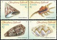 Christmas Islands - Shells - Mint set 4v