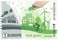 Belgium - Think Green - Europa 2016 - Mint stamp