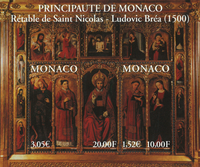 Monaco 2000 YVBF84 L.Bréa postfrisk miniark