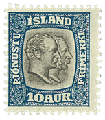 Island Tjenestemærke afa 20
