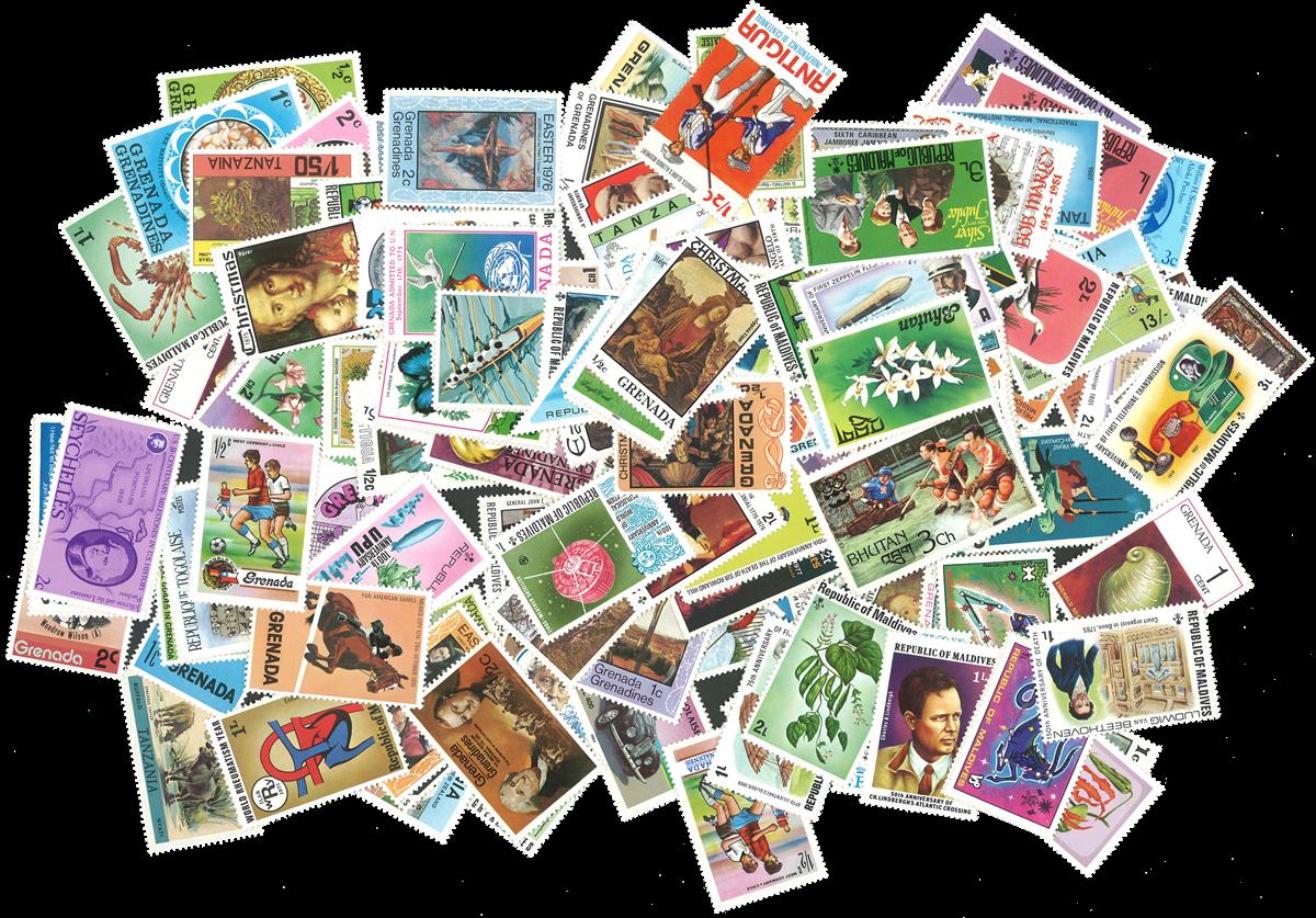 Engelske Kolonier - 250 forskellige postfriske frimærker