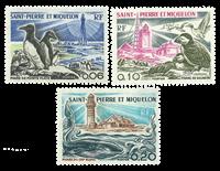 St. Pierre & Miquelon 1975 - YT 445-47 - fyrtårne
