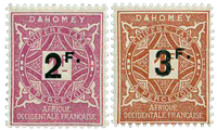 Dahomey - Postage due YT 17-18