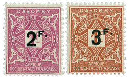 Dahomey - YT portomærker 17-18