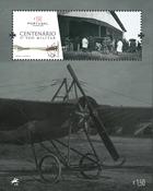 Portugal - Første militærflyvning - Postfrisk miniark