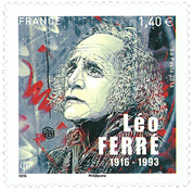 France - Leo Ferre - Mint stamp