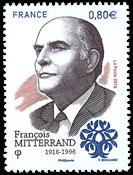 Frankrig - Francois Mitterrand - Postfrisk frimærke