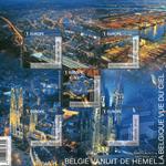Belgien - Belgien set fra luften - Postfrisk ark
