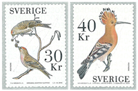 Sverige - Fugle - Postfrisk sæt 2v