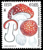 Estland - Rød fluesvamp - Postfrisk frimærke