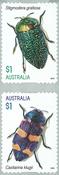 Australia - Jewel Beetles - Mint set adhesive