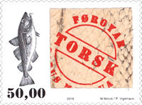 Faroe Islands - Real cod skin - Mint stamp
