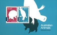 Australia - Monotremes - Mint souvenir sheet