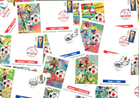World Cup football 2002 - Stock remainders of match envelopes