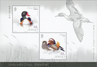 Jersey - Ducks - Friendship China - Mint souvenir sheet