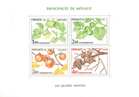 Monaco 1981 YVBF20 4 årstider postfrisk miniark