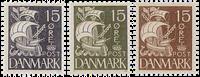 Denmark - Caravel - Global offer - 3 single stamps